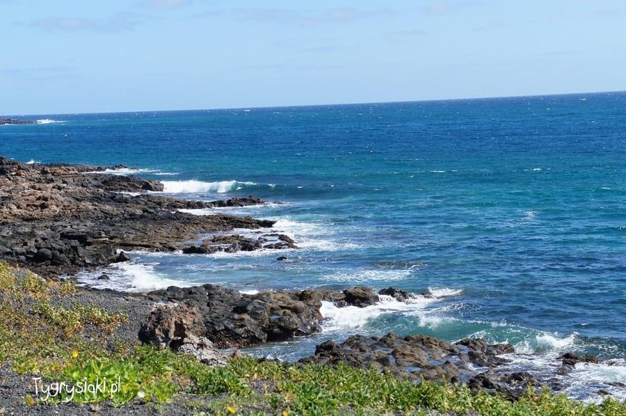 Widok zLanzarote naOcean Atlantycki