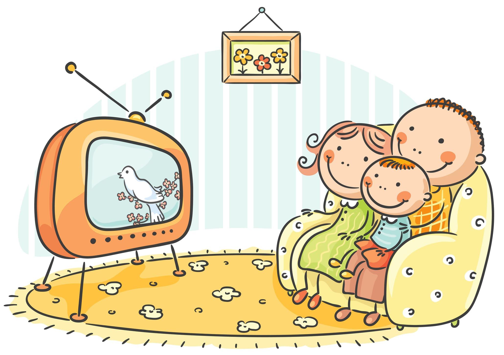 Rodzina przedtelewizorem, Dreamstime