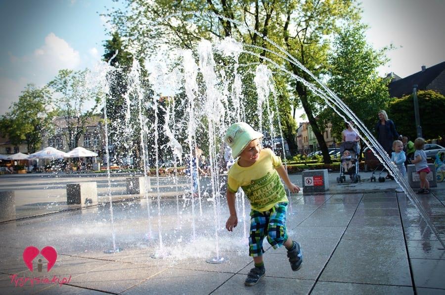 Bieganie przy fontannie