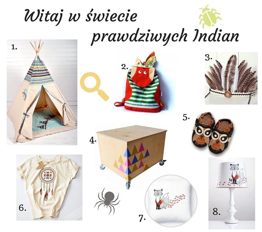 Indiański kącik dla dziecka - leśne motywy