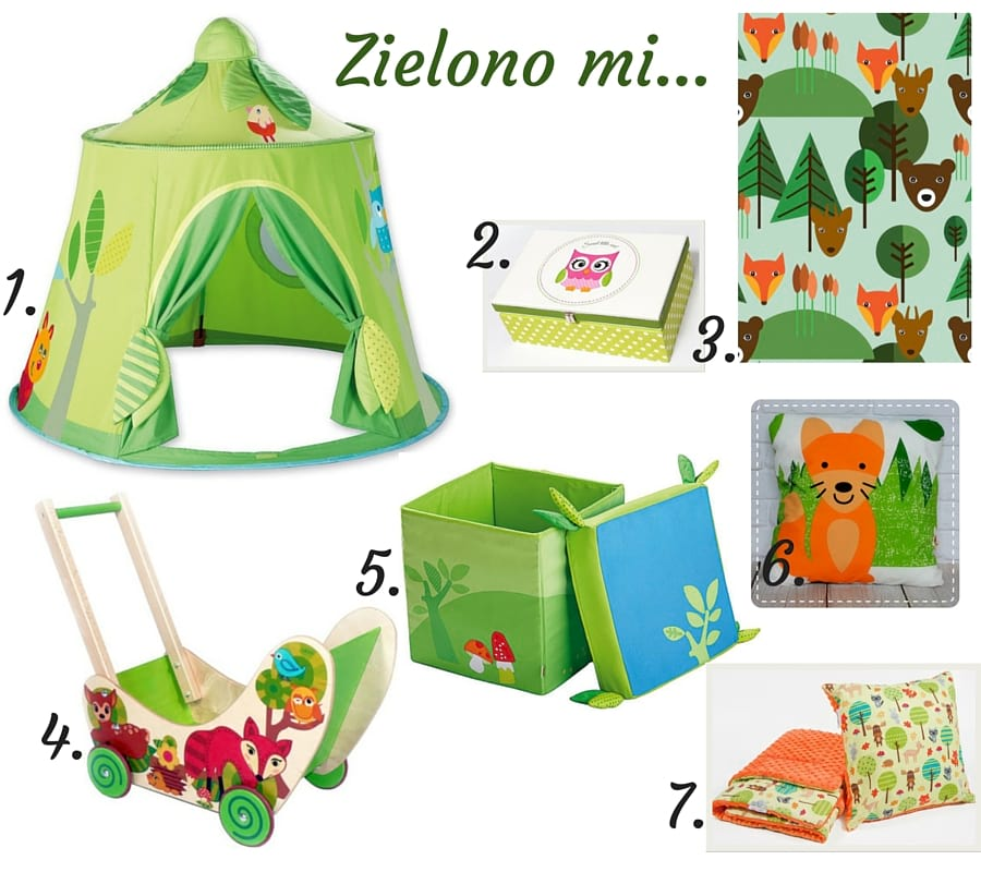 Pokój dziecięcy zklimatem - las 2