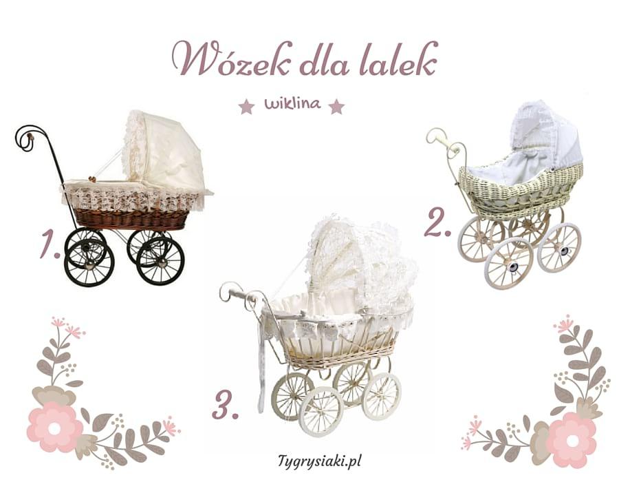 wózek dla lalek wiklina