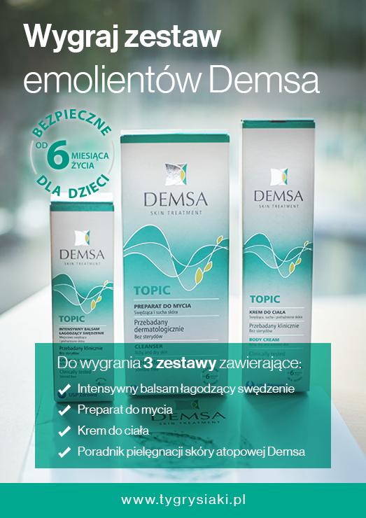 DEMSA konkurs, wygraj zestaw kosmetyków AZS