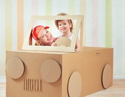 Domek zkartonu dla dzieci